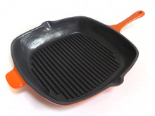 Enameled Cast Iron Square Grill Pan