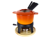 Enameled Cast Iron Fondue Set