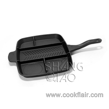 5 in 1 Cast Iron Divided Master Pan
