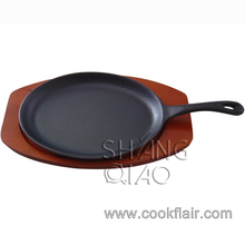 Pre-seasoned Cast Iron Fajita Sizzler Plate