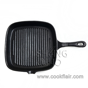 9 Inches Cast Iron Square Grill Pan