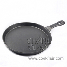 10.5 Inch Round Pre-seasoned Cast Iron Pizza Pan