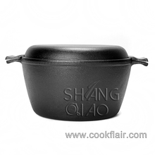 Cast Iron Double Dutch Oven