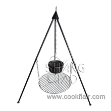 Campfire Grill Grate and Tripod for Dutch Oven