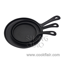 Set of 3 Pre-seasoned Cast Iron Fry Pan